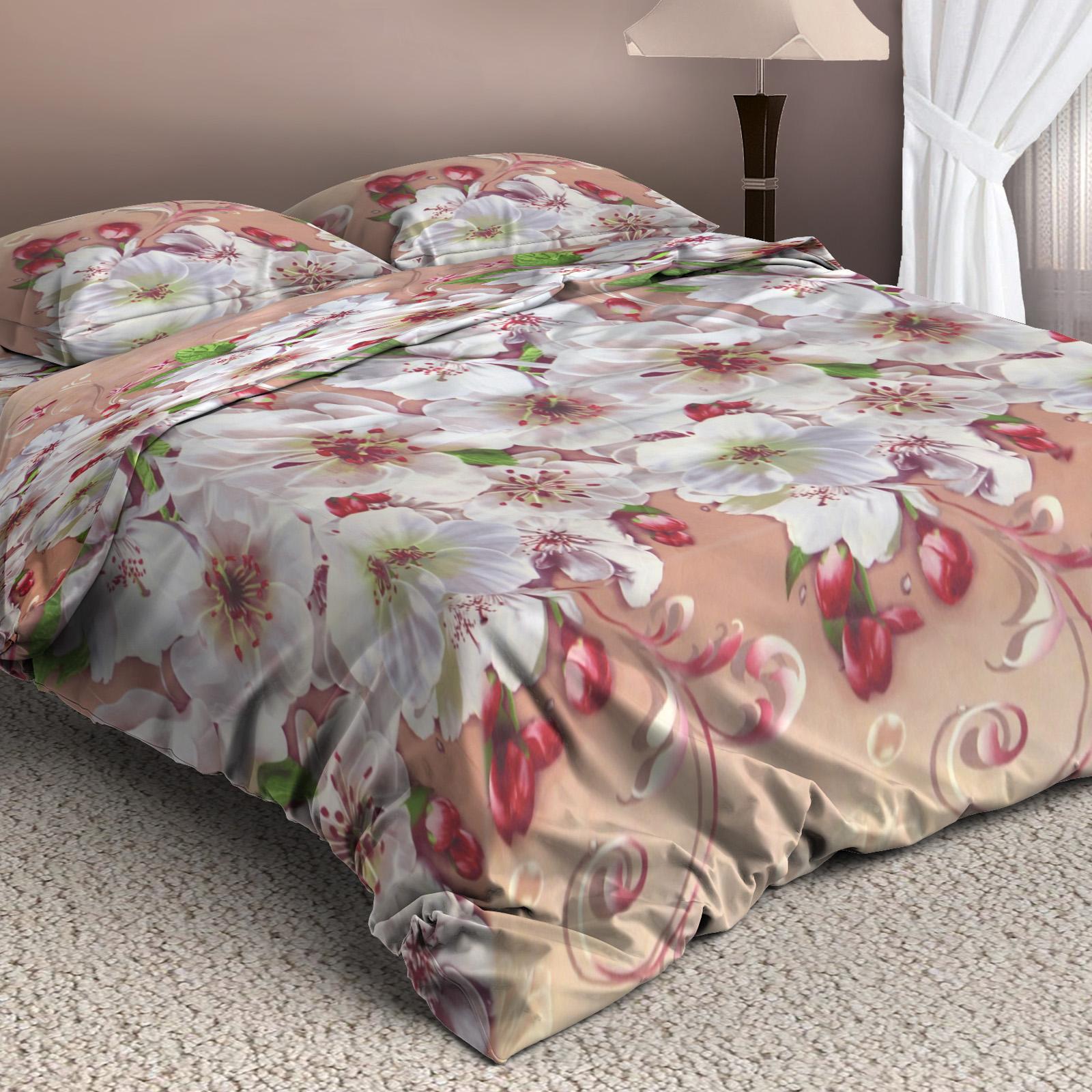 Комплект постельного белья «Нежный шиповник»