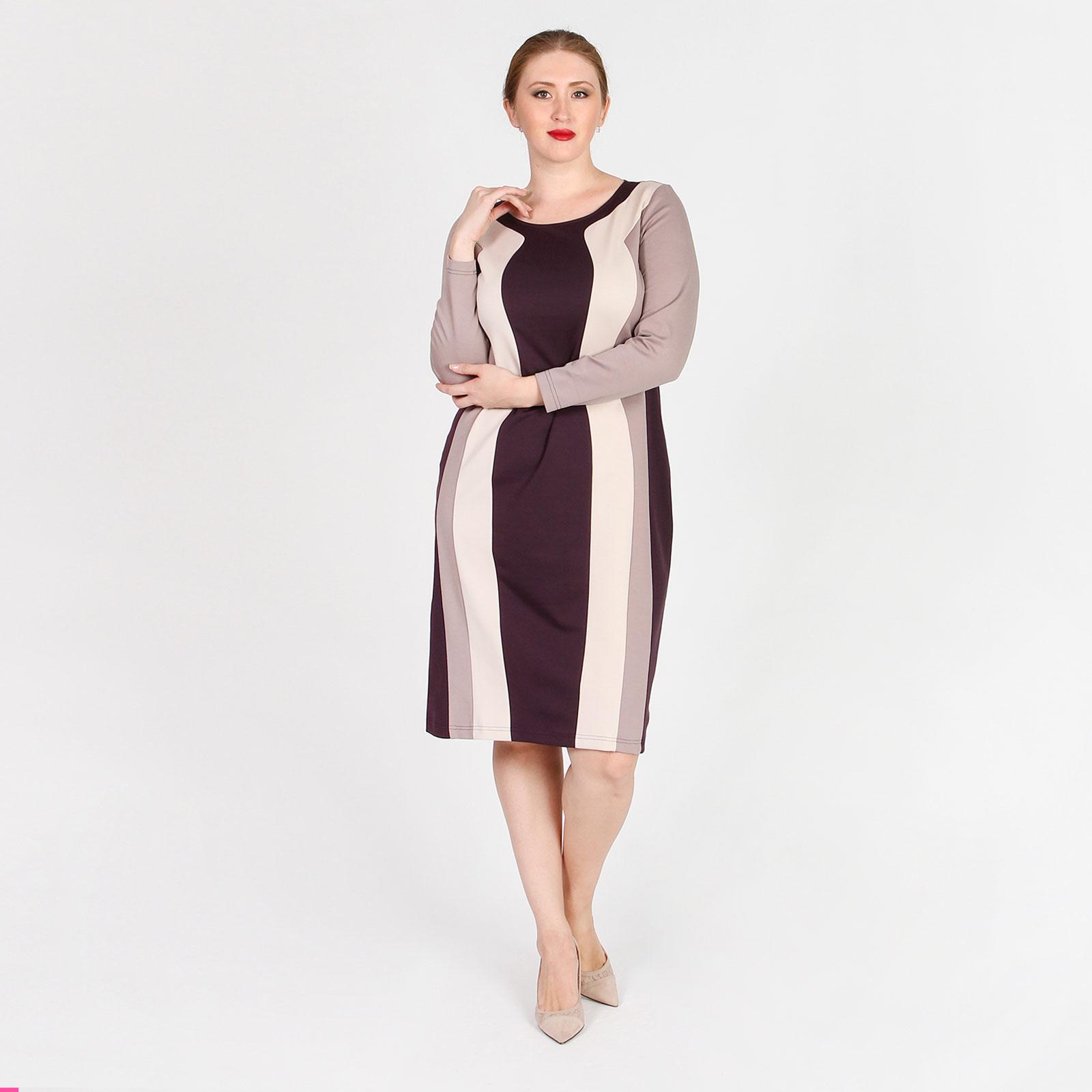 Платье с вертикальными выставками