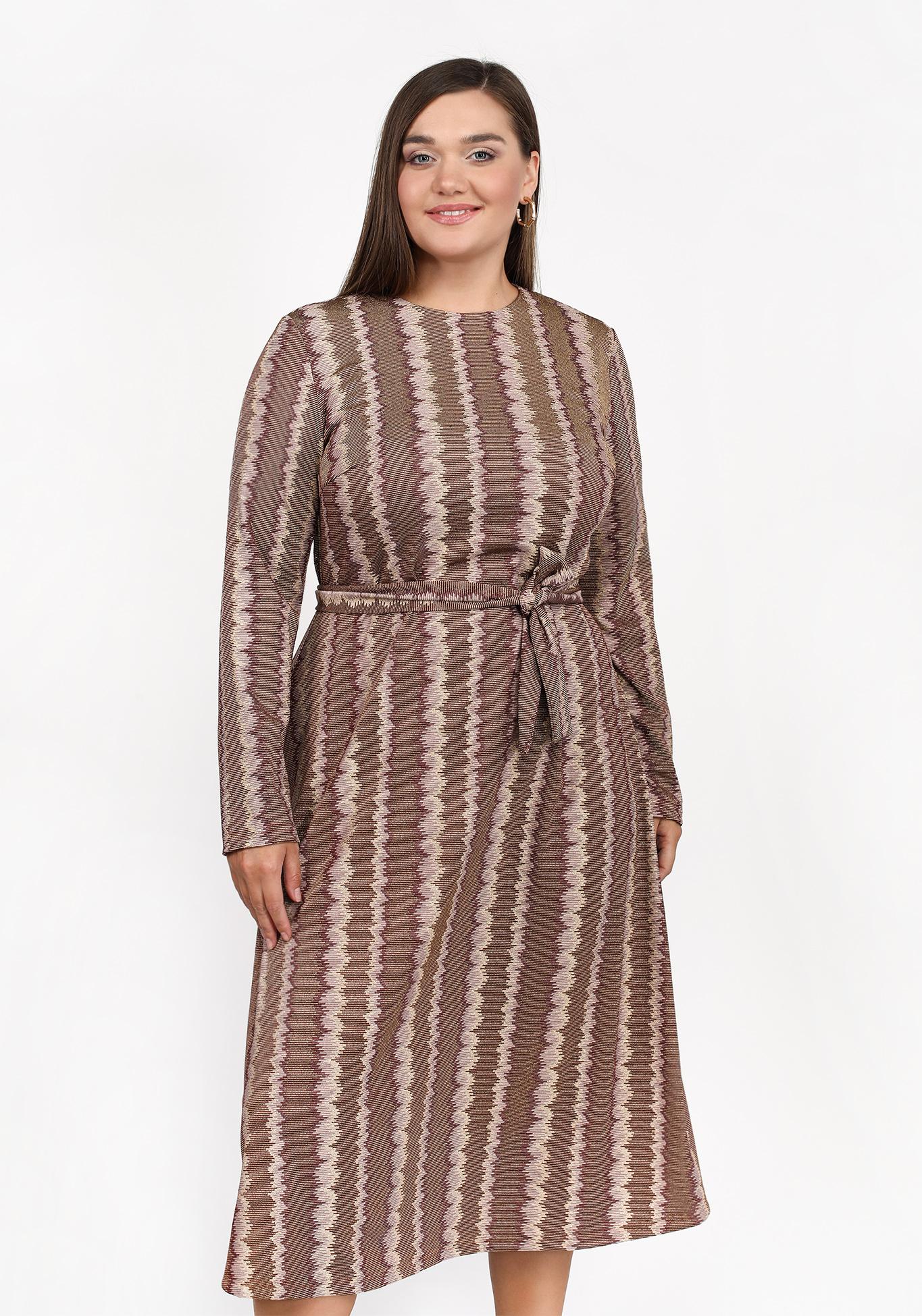 Платье трикотажное с блеском