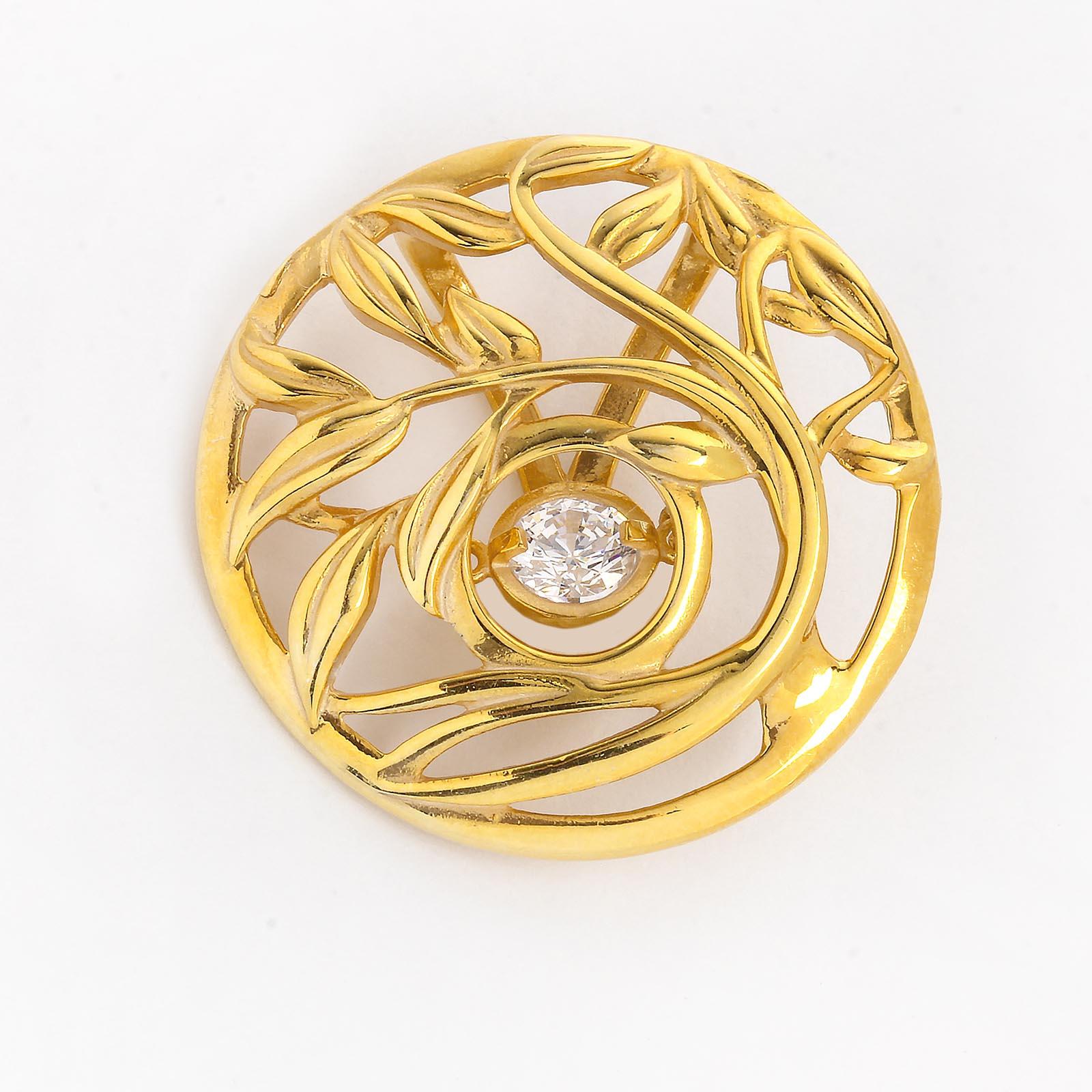 Серебряный кулон «Золотой сад»