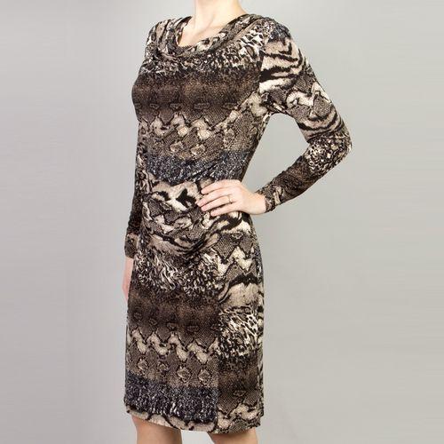 Платье прямого силуэта с драпировкой