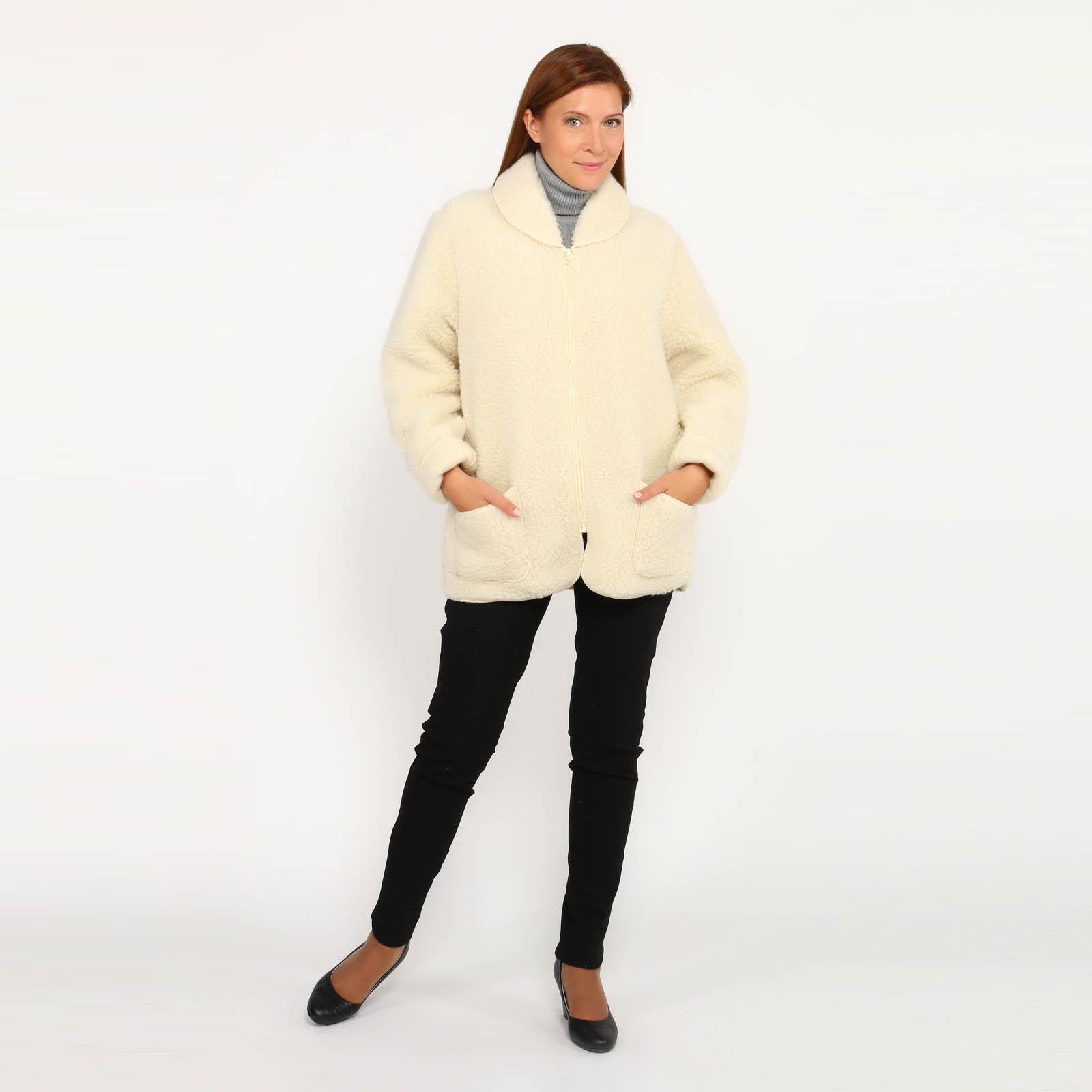Куртка из овечьей шерсти на молнии