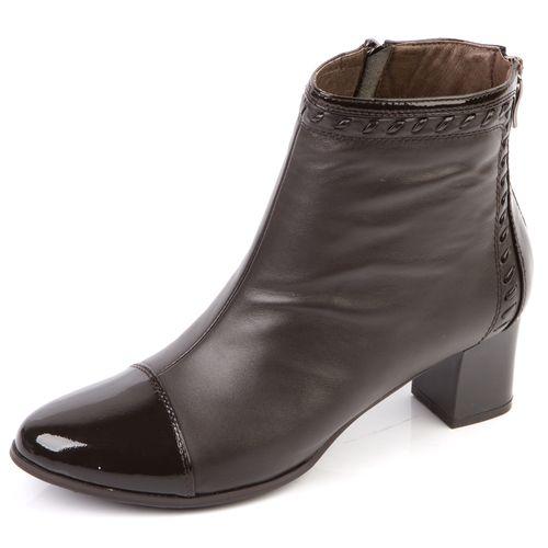 Женские ботинки с лакированным мысом