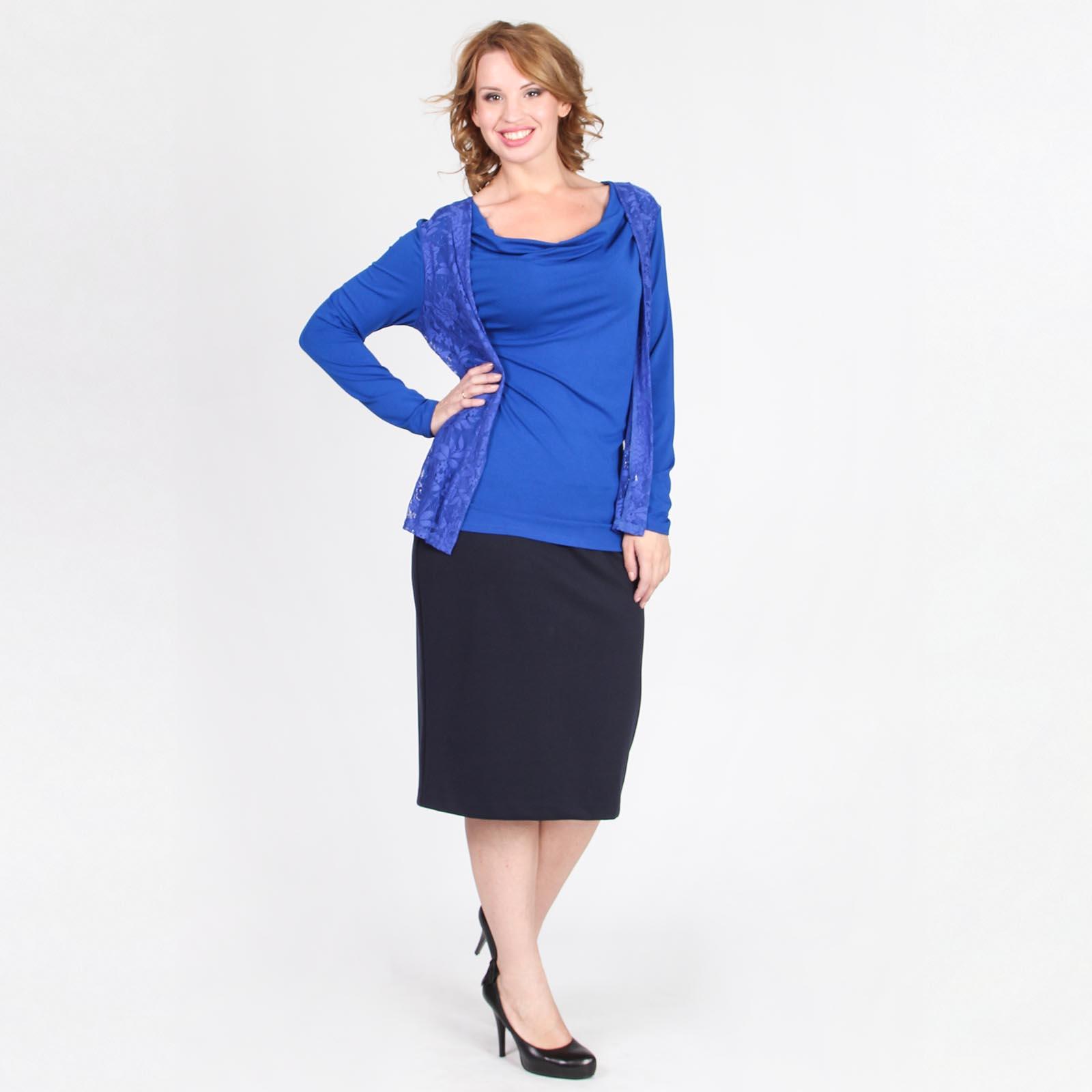Блуза с имитацией двойки и воротником «качели»