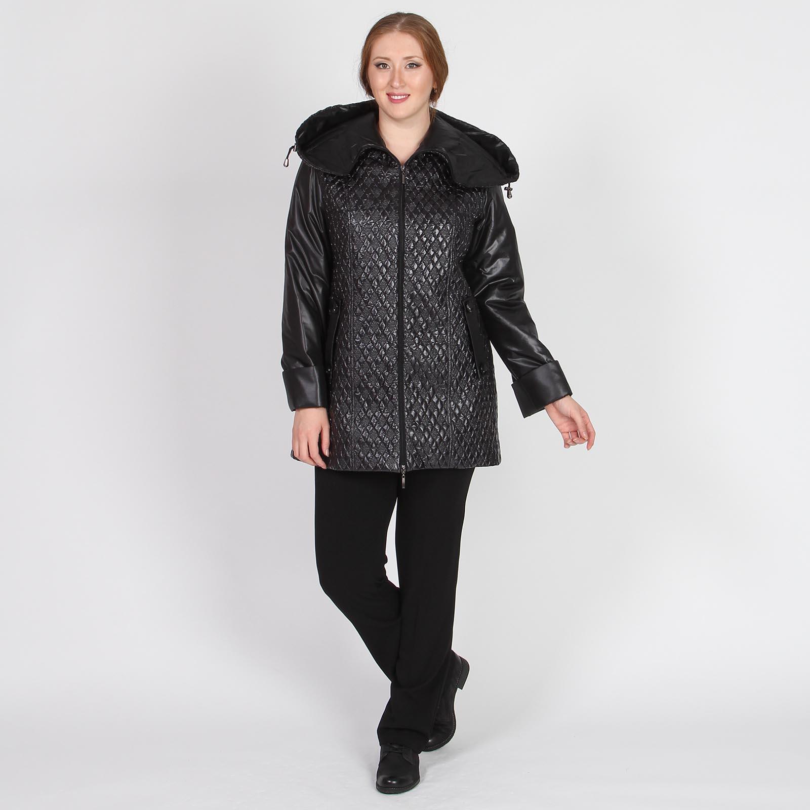 Куртка с капюшоном и фактурным узором