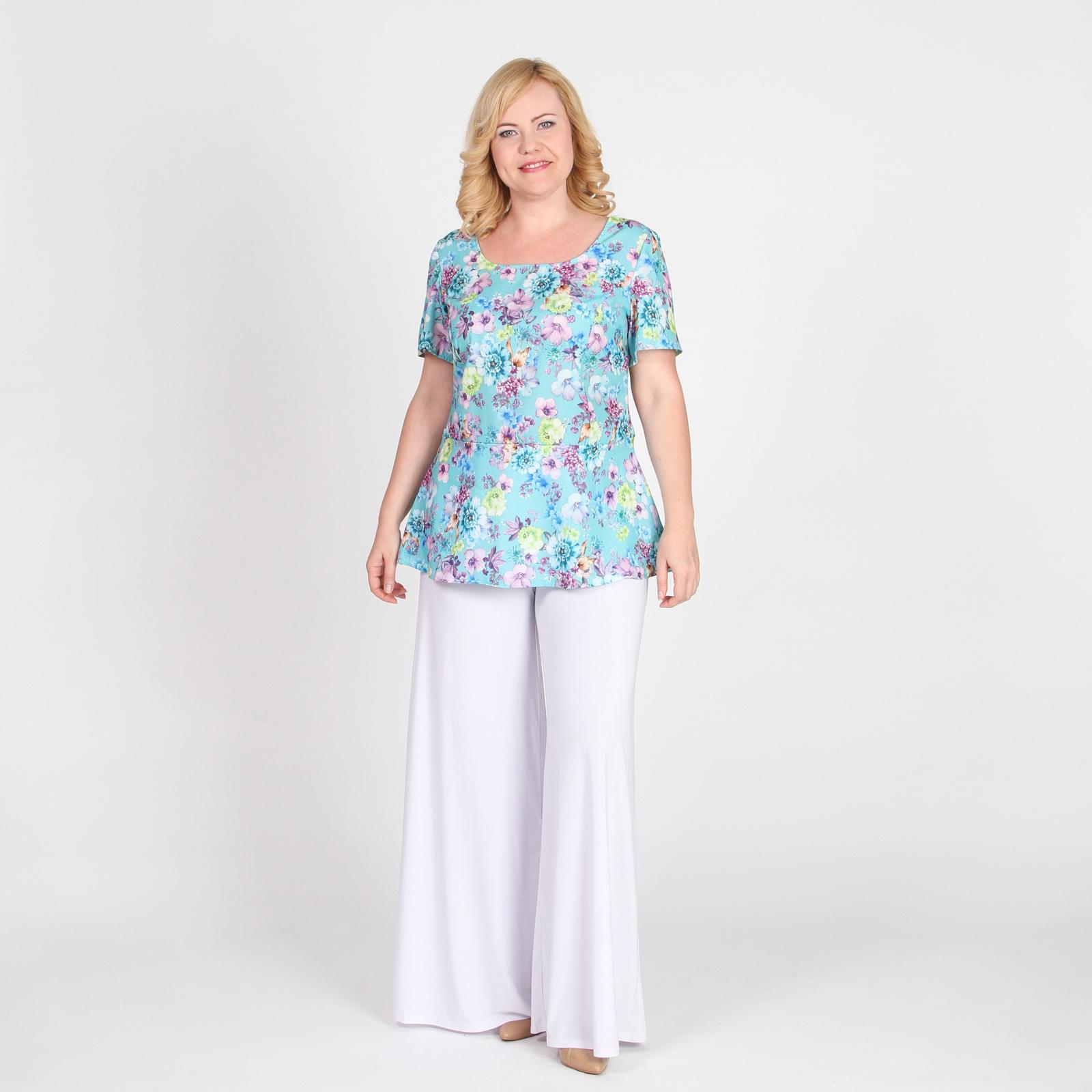 Блуза с баской и коротким рукавом
