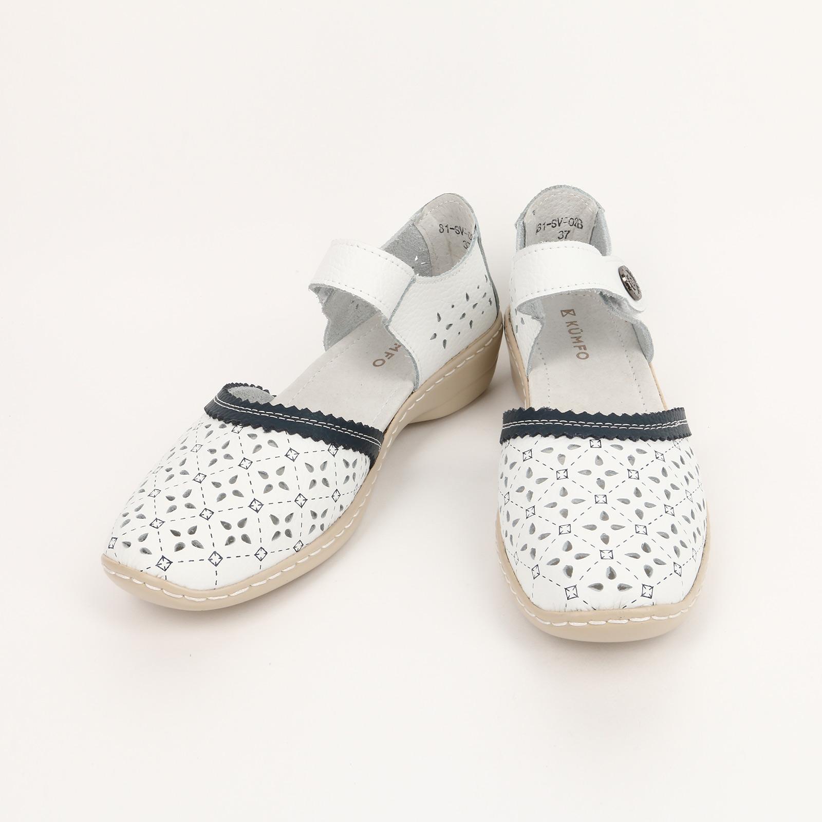 Туфли женские с застежкой и перфорацией