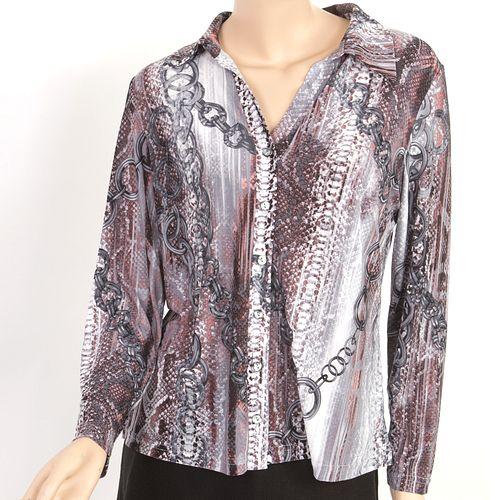 Блуза с принтом «Звенья»