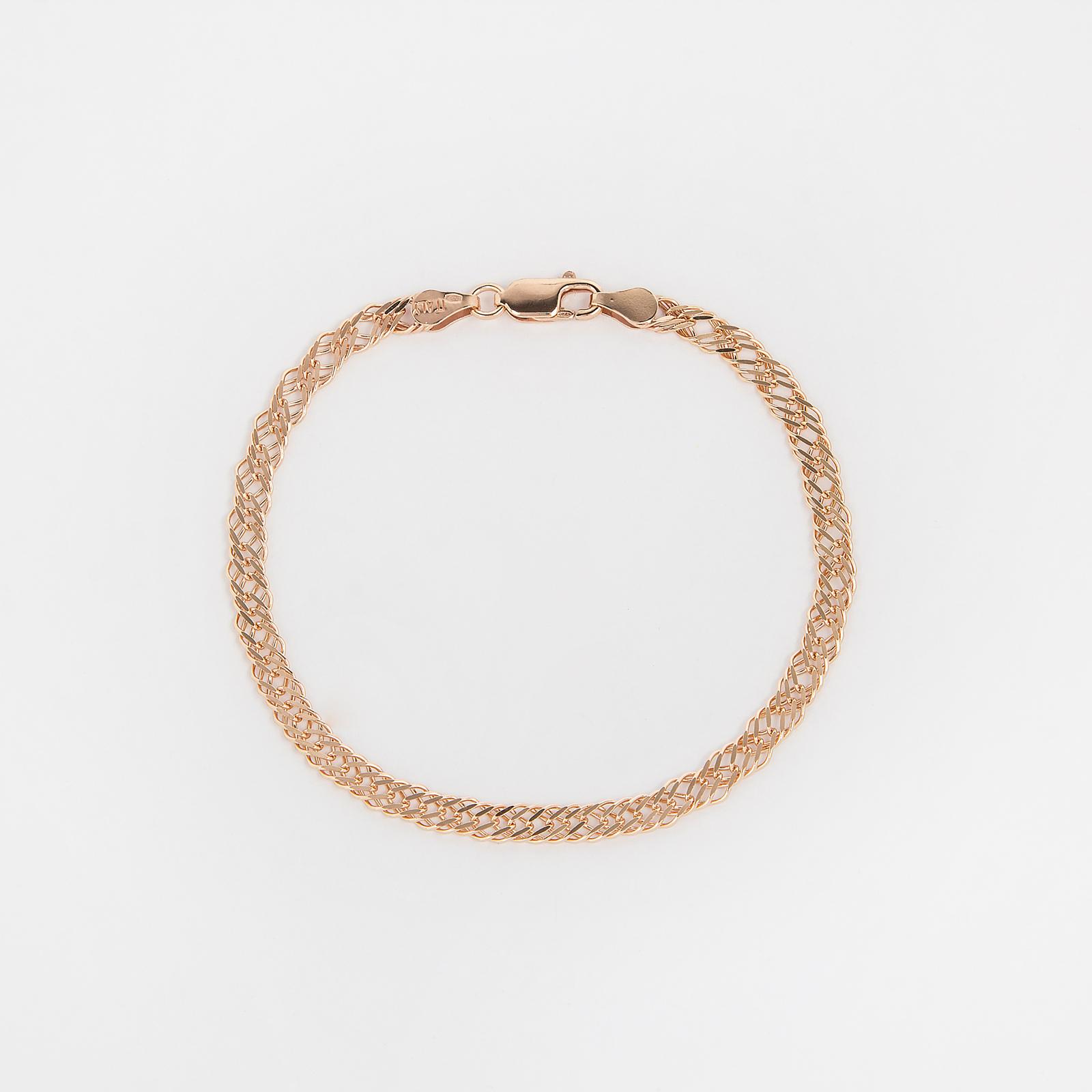 Серебряный браслет «Тройной ромб»