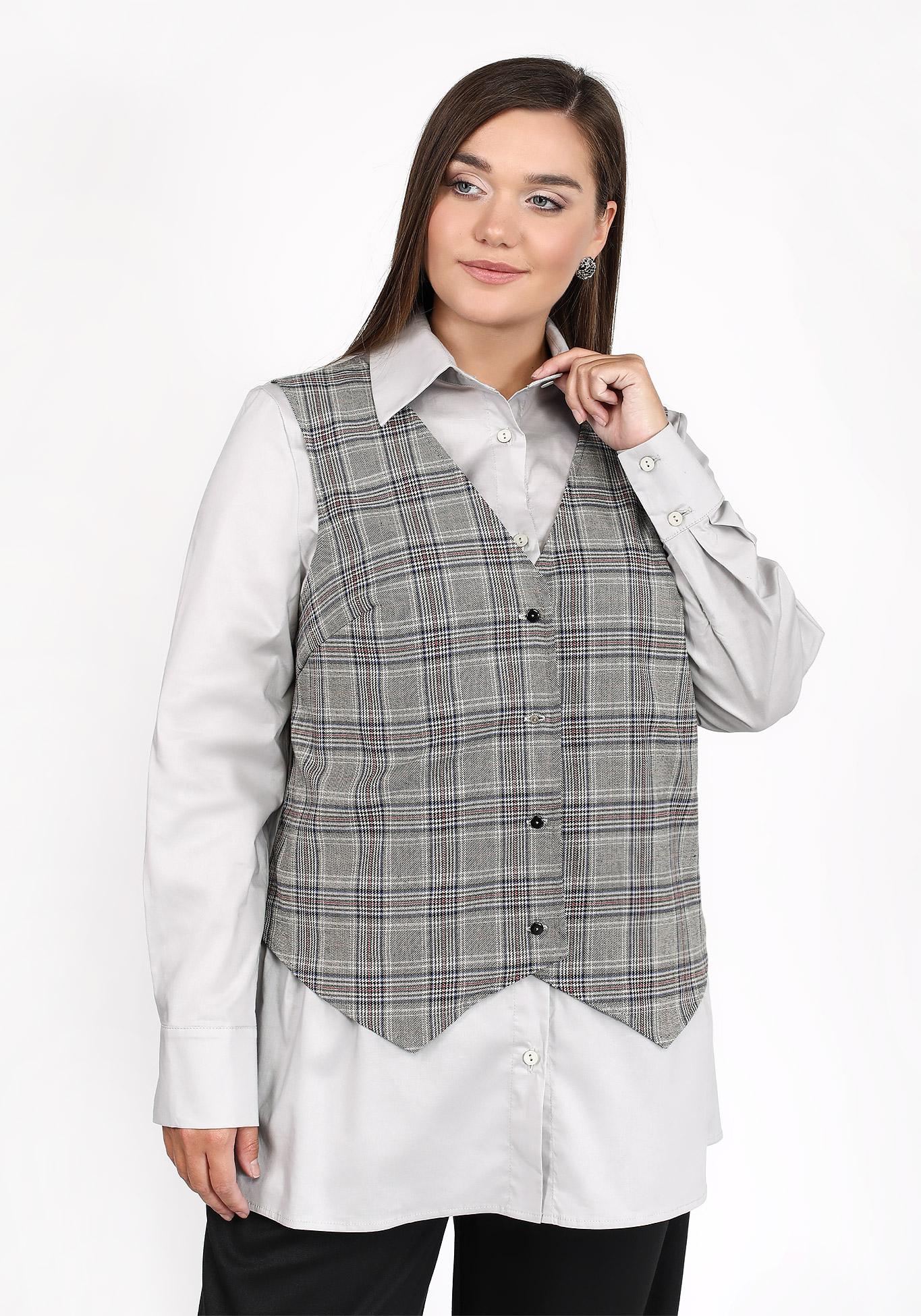 Блуза с имитацией жилетки