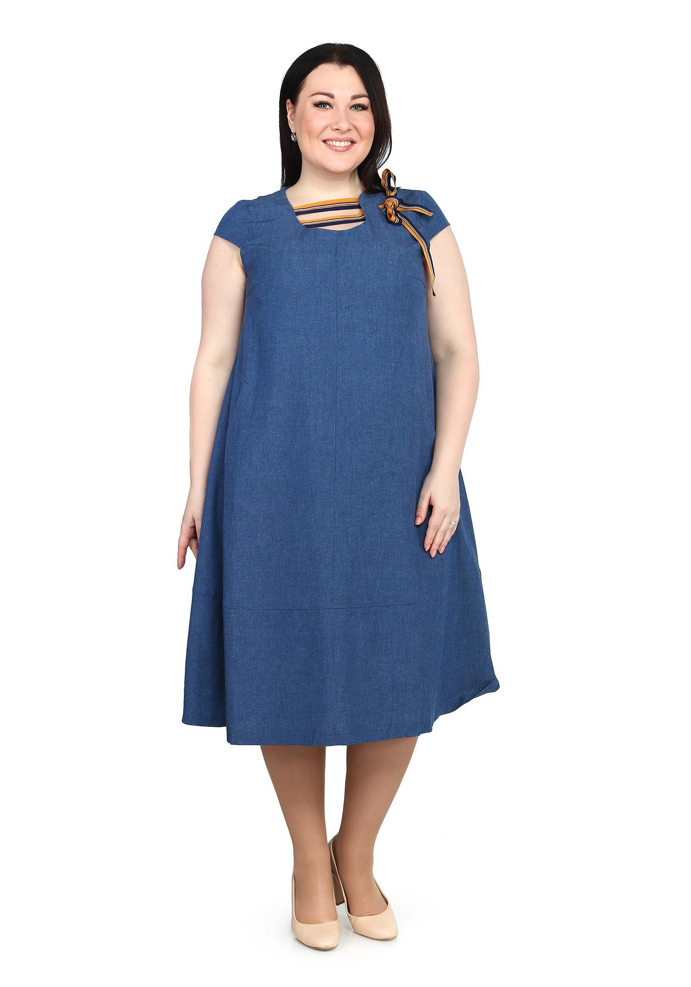 Платье расклешенное оригинального дизайна
