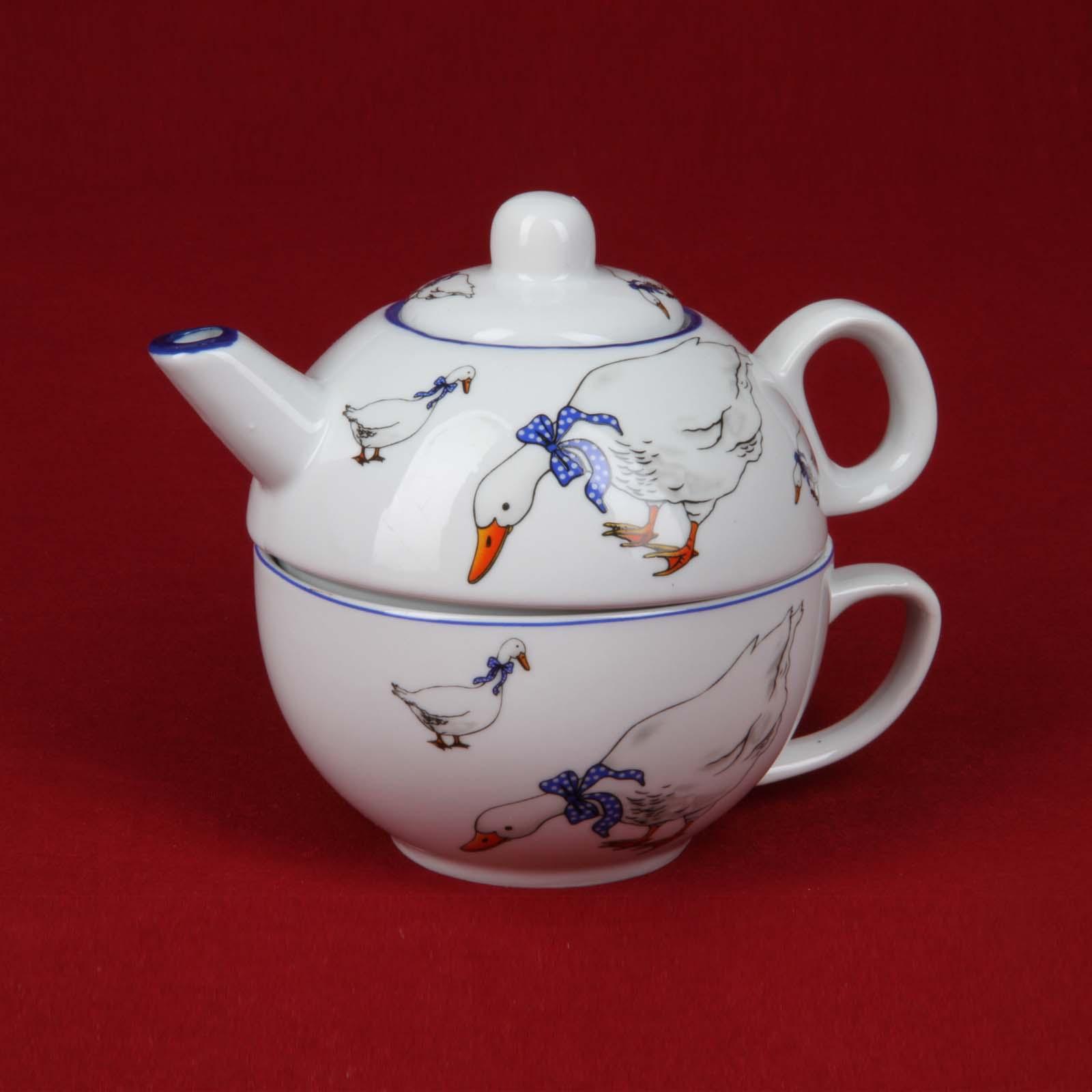 Чайник и чашка «Волшебные гуси»