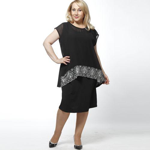 Комплект: платье и блуза из шифона с восточным принтом