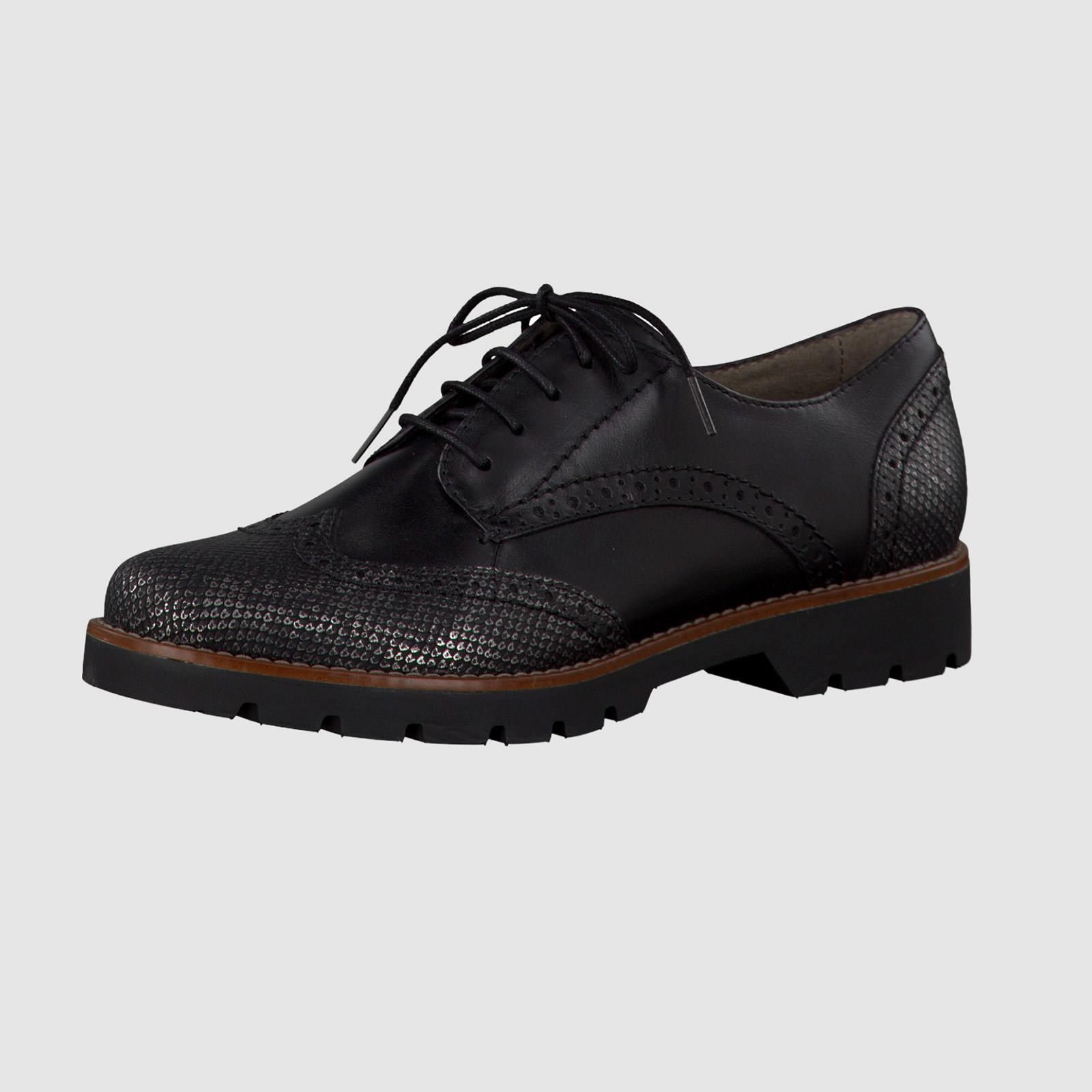 Женские ботинки на шнуровке со вставками