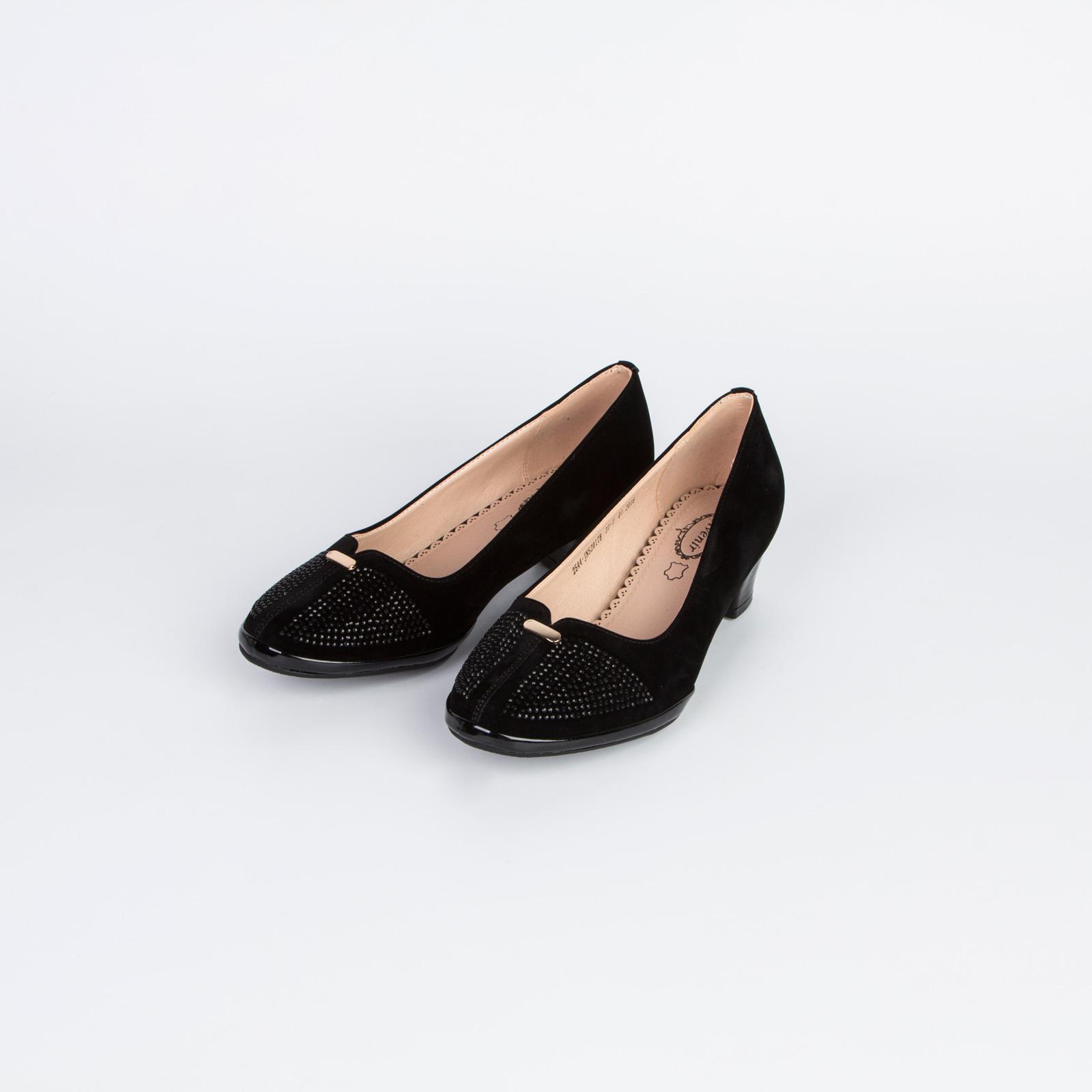 Туфли женские украшенные стразами на мысу