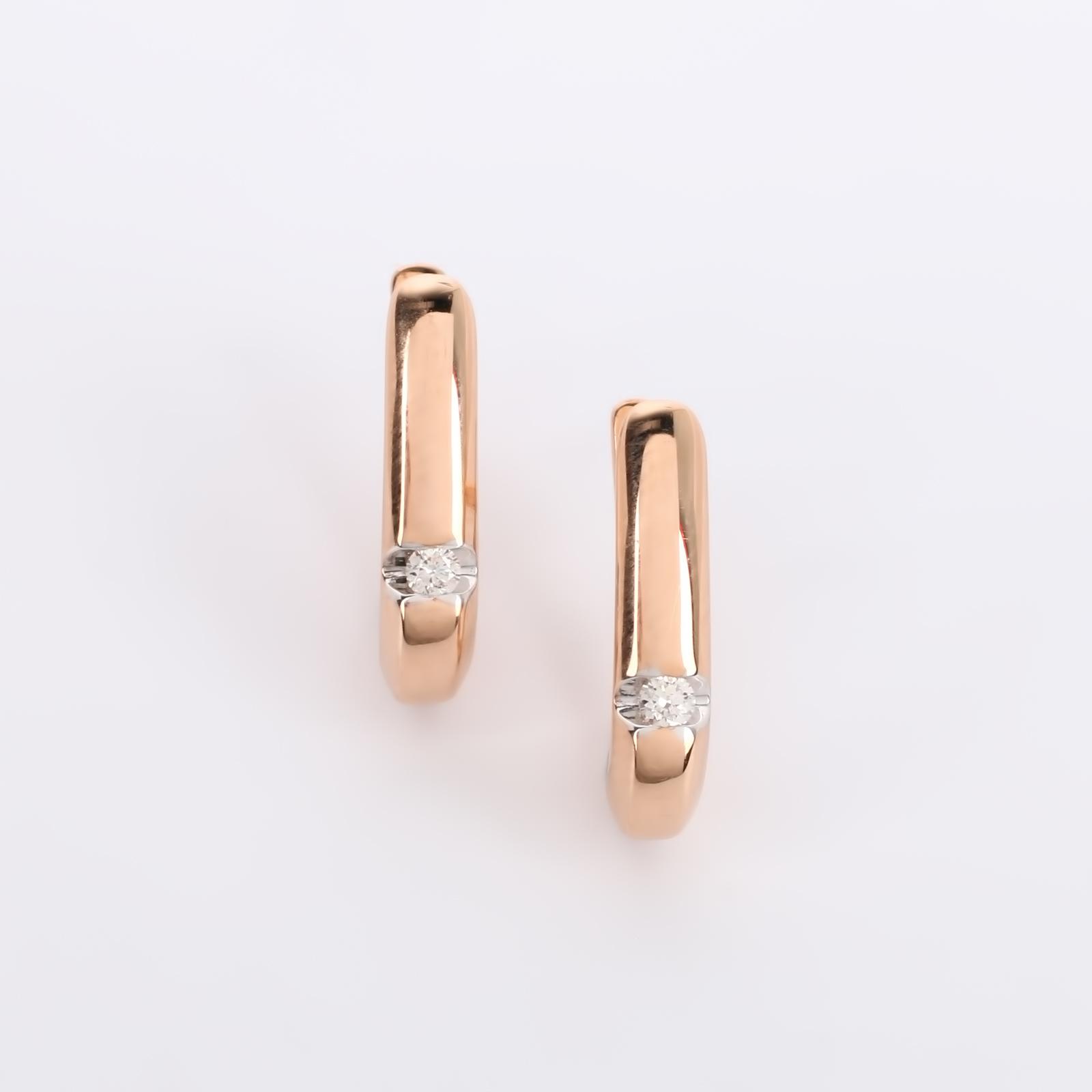 """Серьги из золота с бриллиантами """"Элегант"""""""