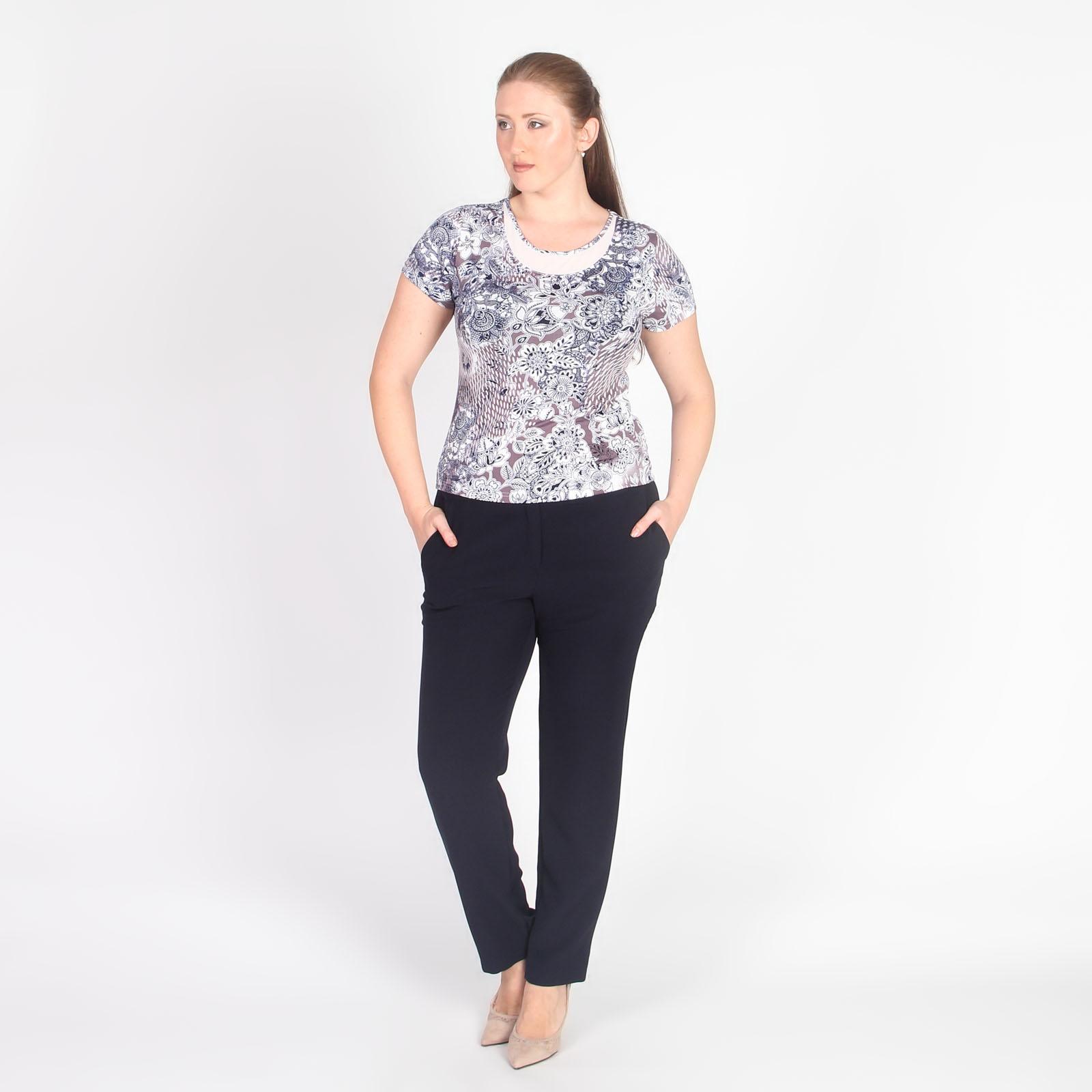 Комплект: блуза и жакет с узорным принтом