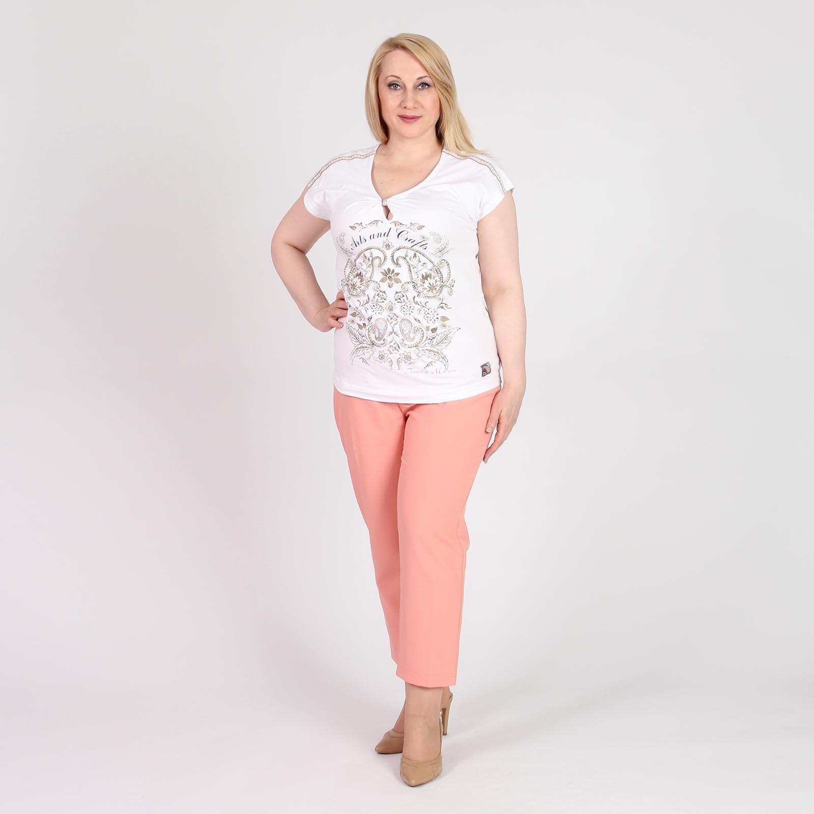 Блуза с коротким рукавом и вырезом «капелька»