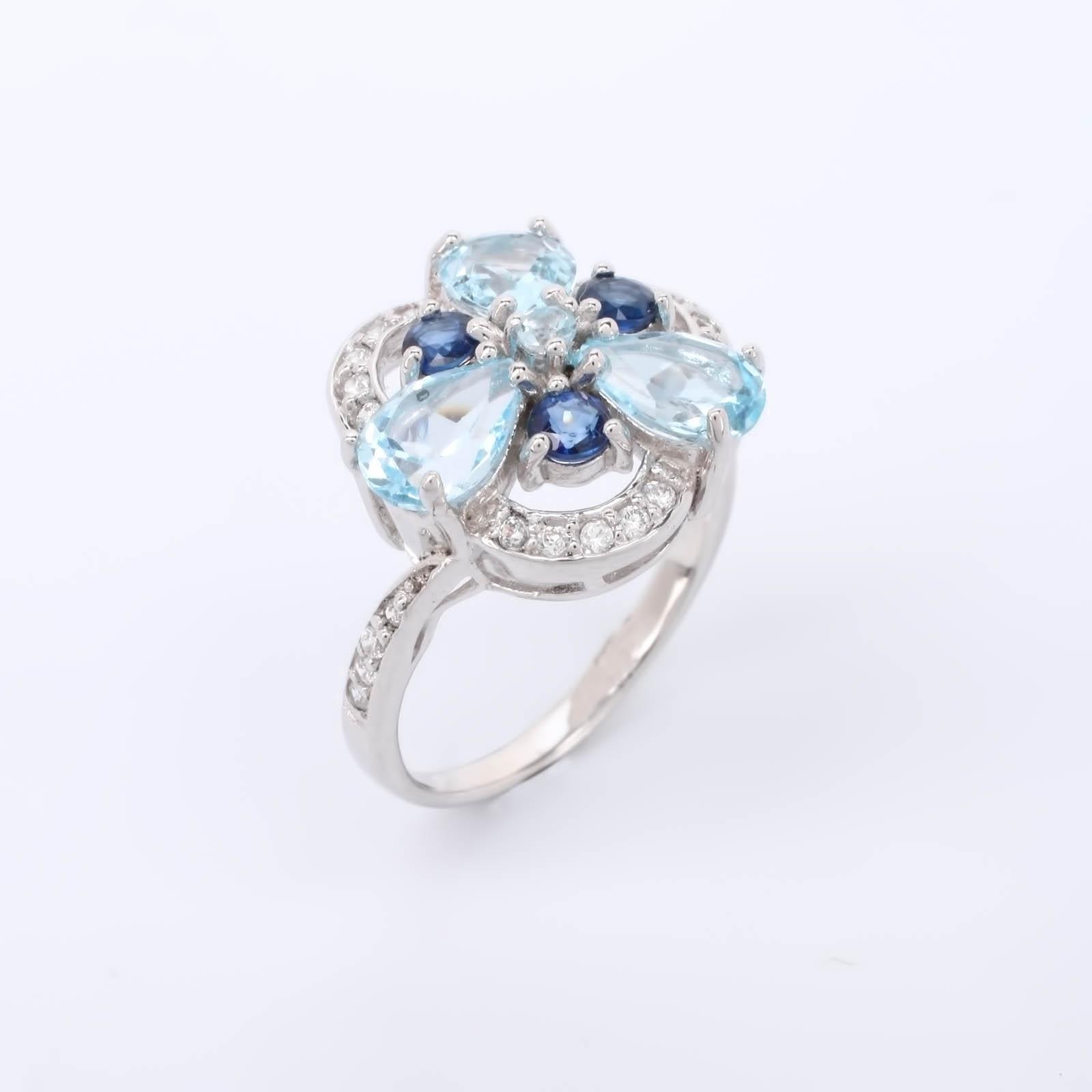 """Серебряное кольцо """"Морозная свежесть"""""""