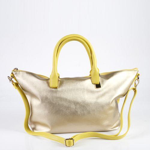 Женская сумка на молнии с дополнительным наплечным ремнем