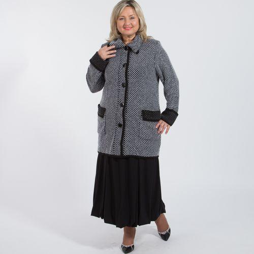 Пальто фактурное с отложным воротником