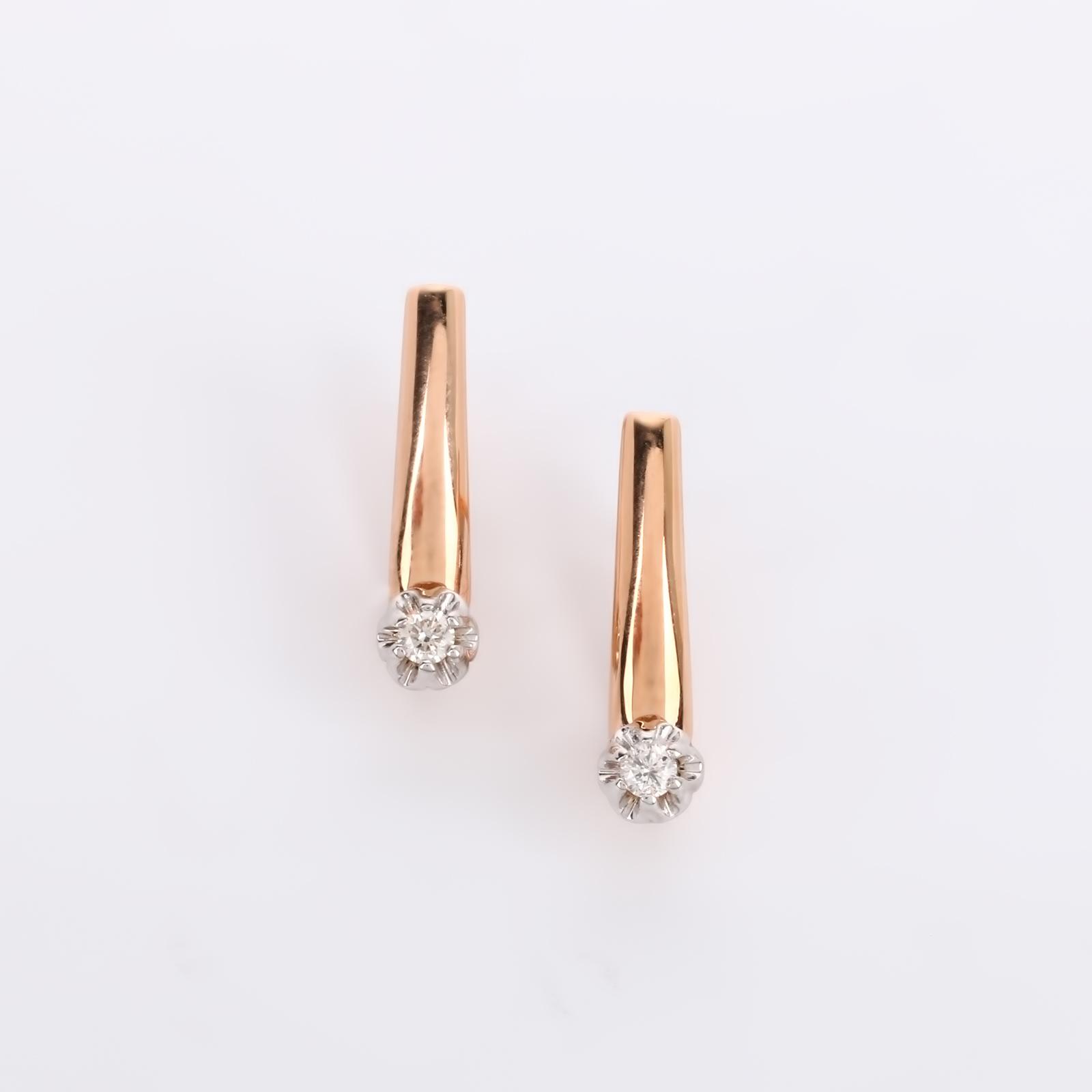 """Серьги из золота с бриллиантами """"Очарование"""""""