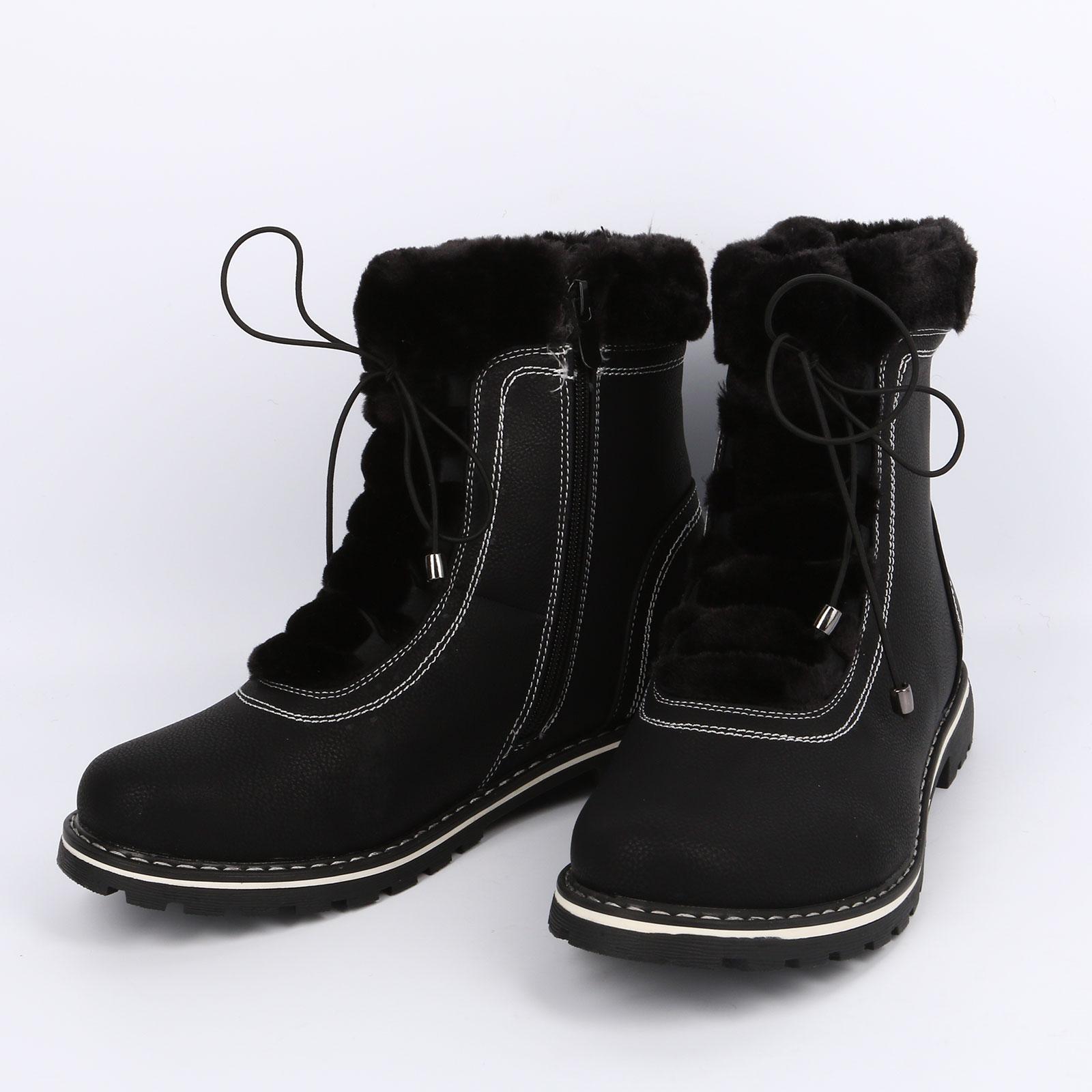 Женские зимние ботинки с меховой опушкой