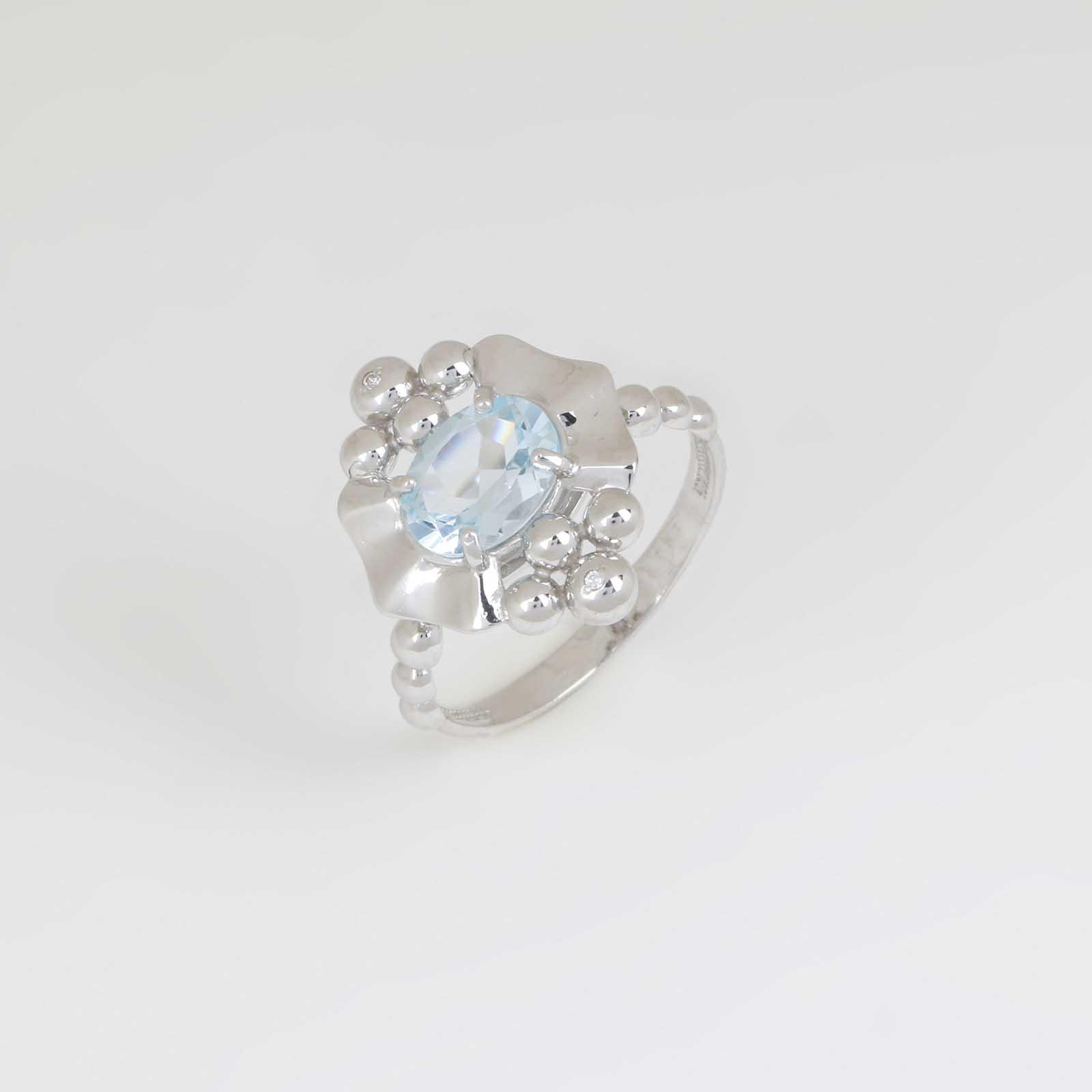 Серебряное кольцо «Утренние росы»