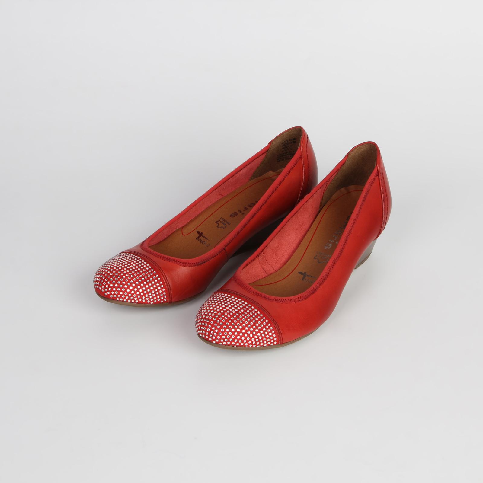 Туфли женские на танкетке из натуральной кожи