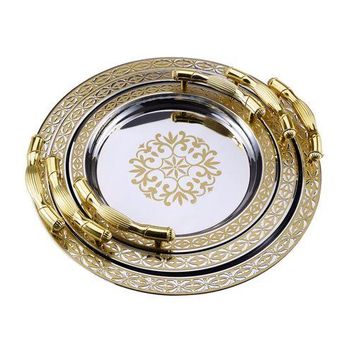 Набор круглых подносов «Царские традиции»