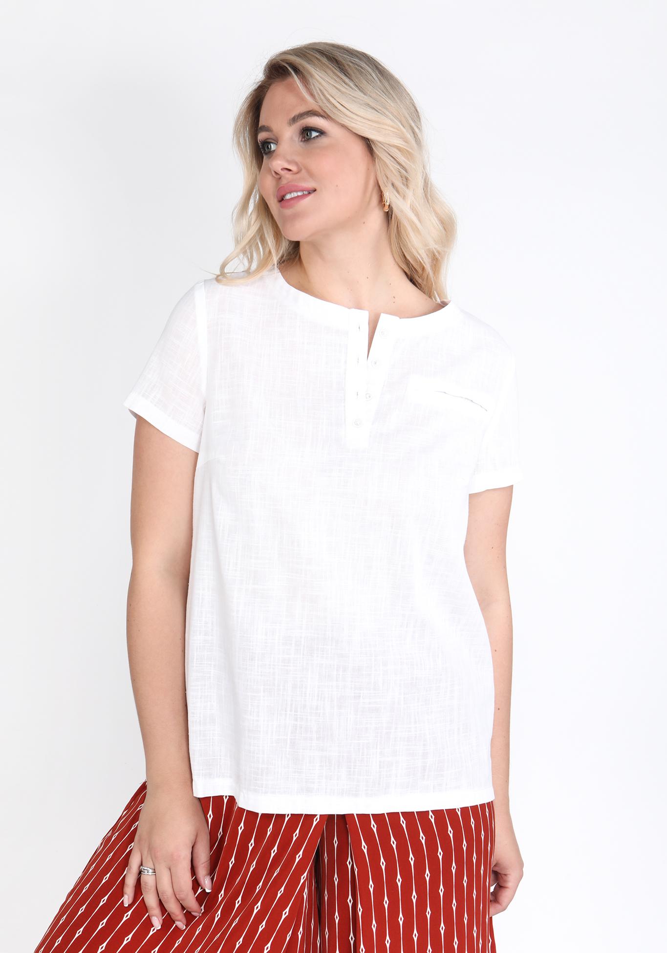 Блуза из хлопковой ткани
