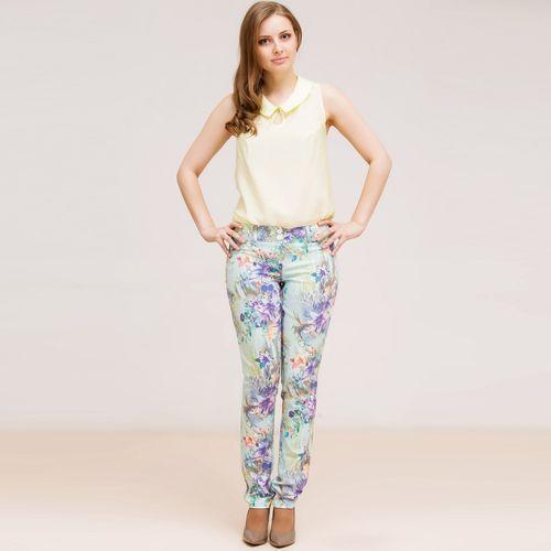 Облегающие брюки с ярким принтом