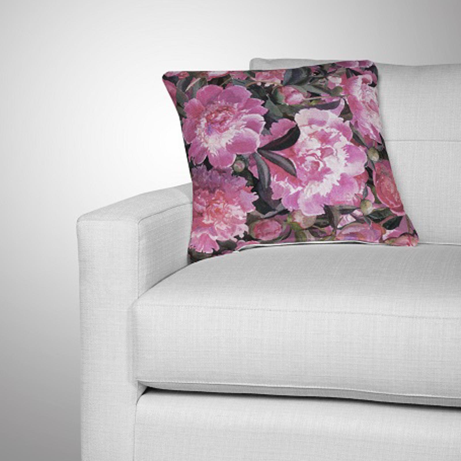 Комплект из 2-х декоративных подушек «Аромат пиона»