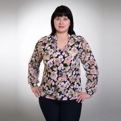 Блуза с цветочным принтом «Весеннее настроение»