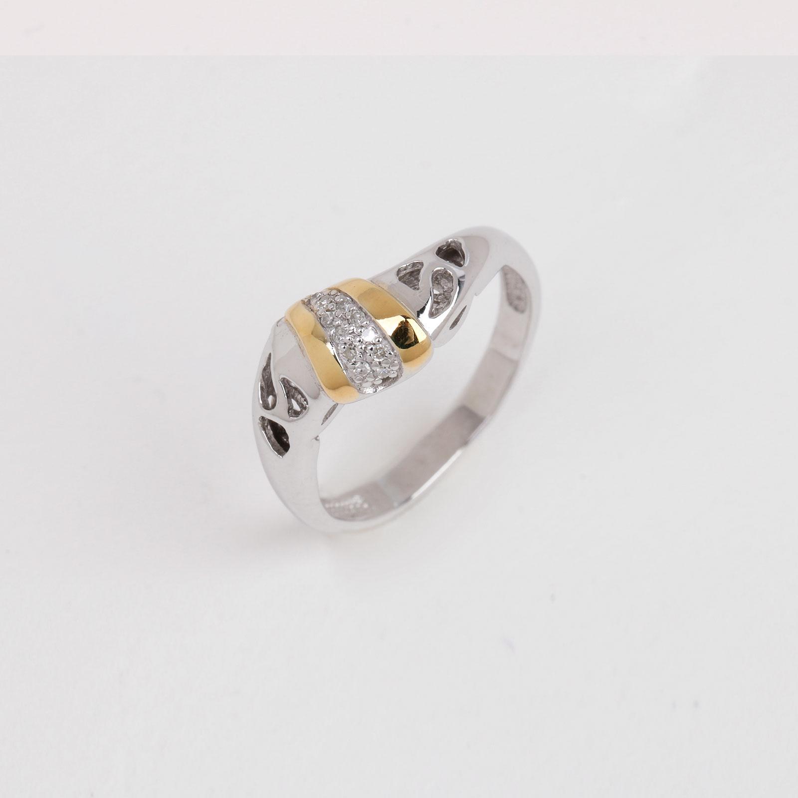 Серебряное кольцо «Французский поцелуй»