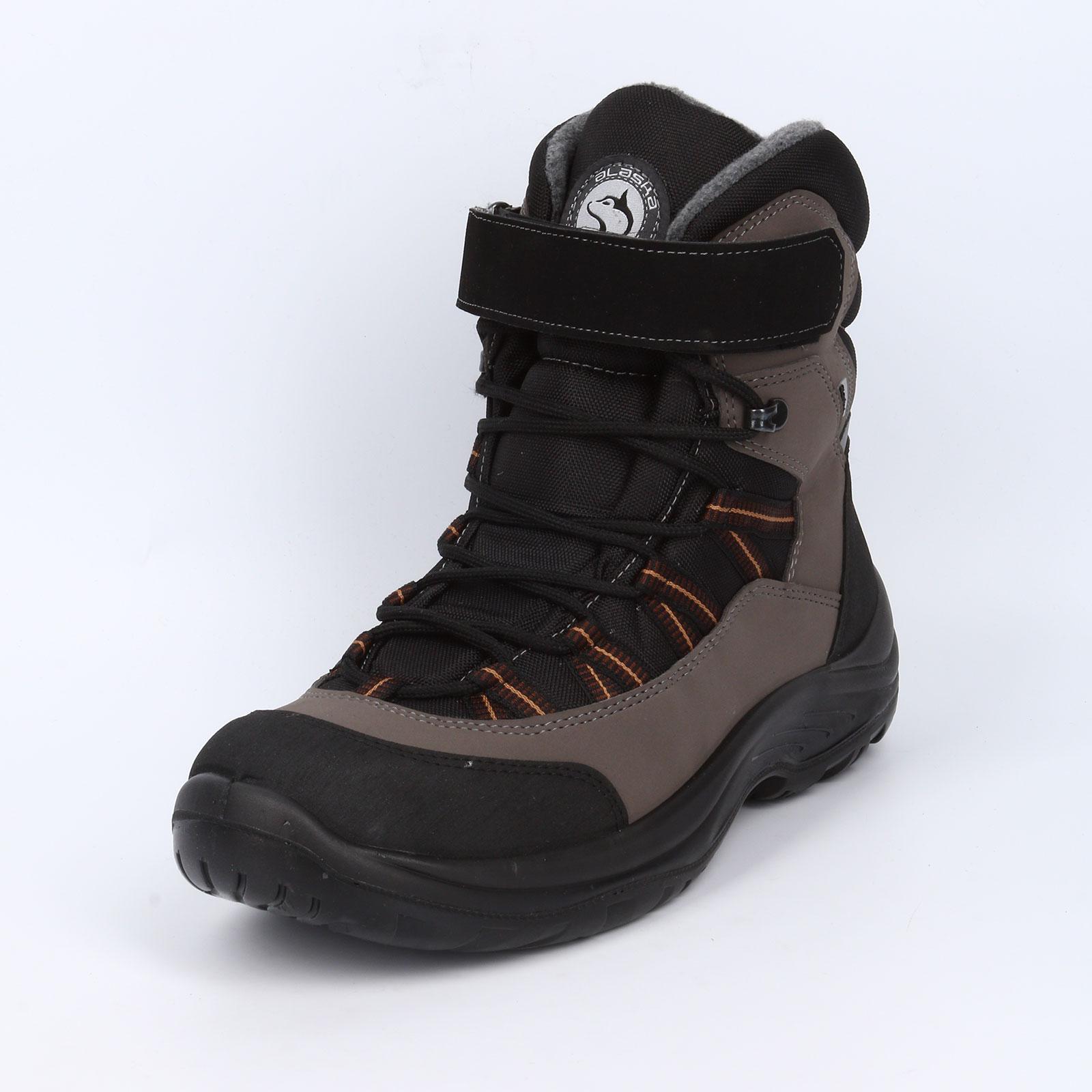 Ботинки мужские на липучке и шнуровке