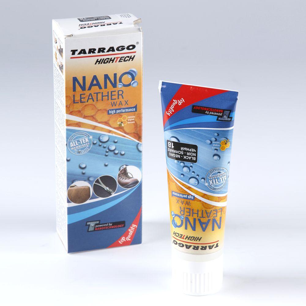 Крем тюбик с губкой NANO Leather WAX
