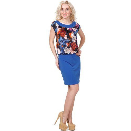 Платье со сборкой на талии и принтом «Ночные цветы» живые цветы в вакууме купить в саратове
