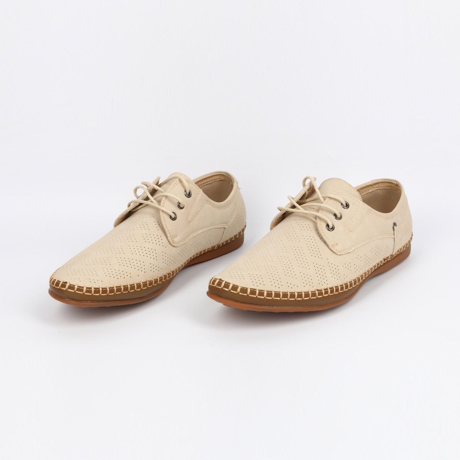 Летние мужские туфли с перфорацией