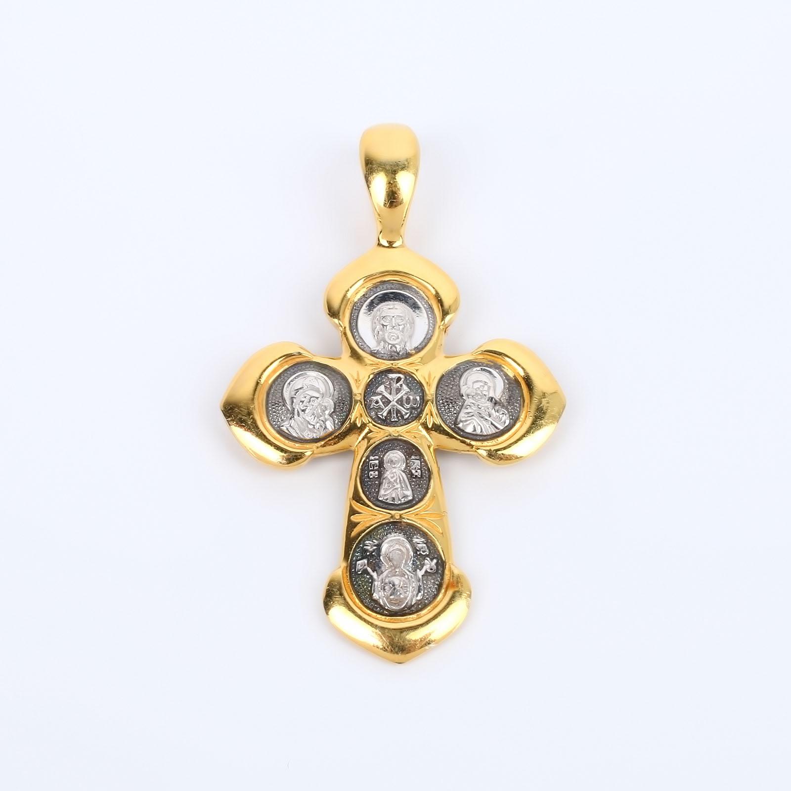 """Серебряная подвеска """"Крест Христа"""""""