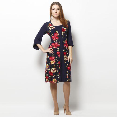 Платье с принтом «Осенние цветы»