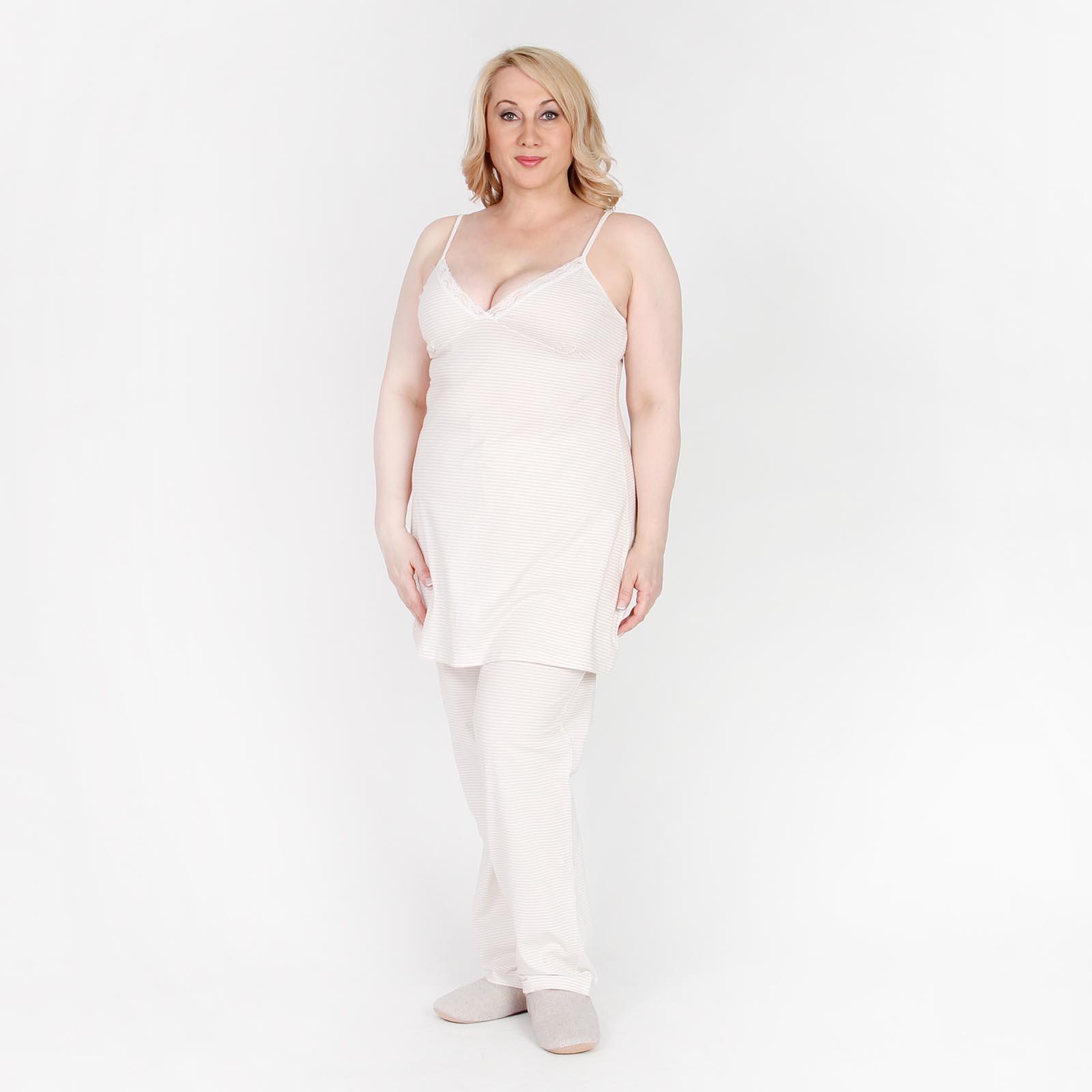 Сорочка женская на бретелях, коллекция «Нежное кружево»