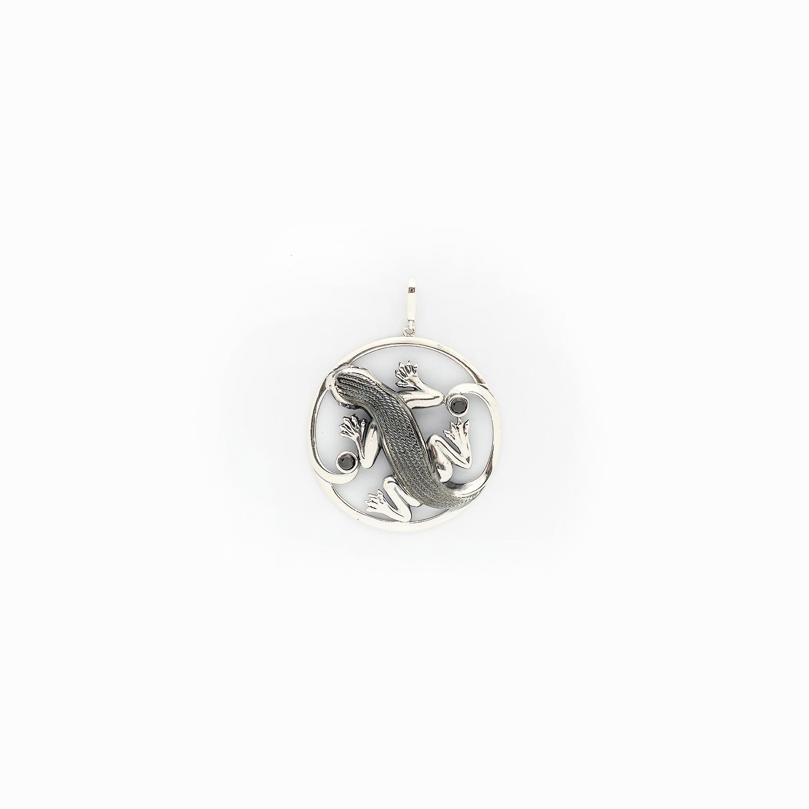 Серебряная подвеска «Индийская ящерица»