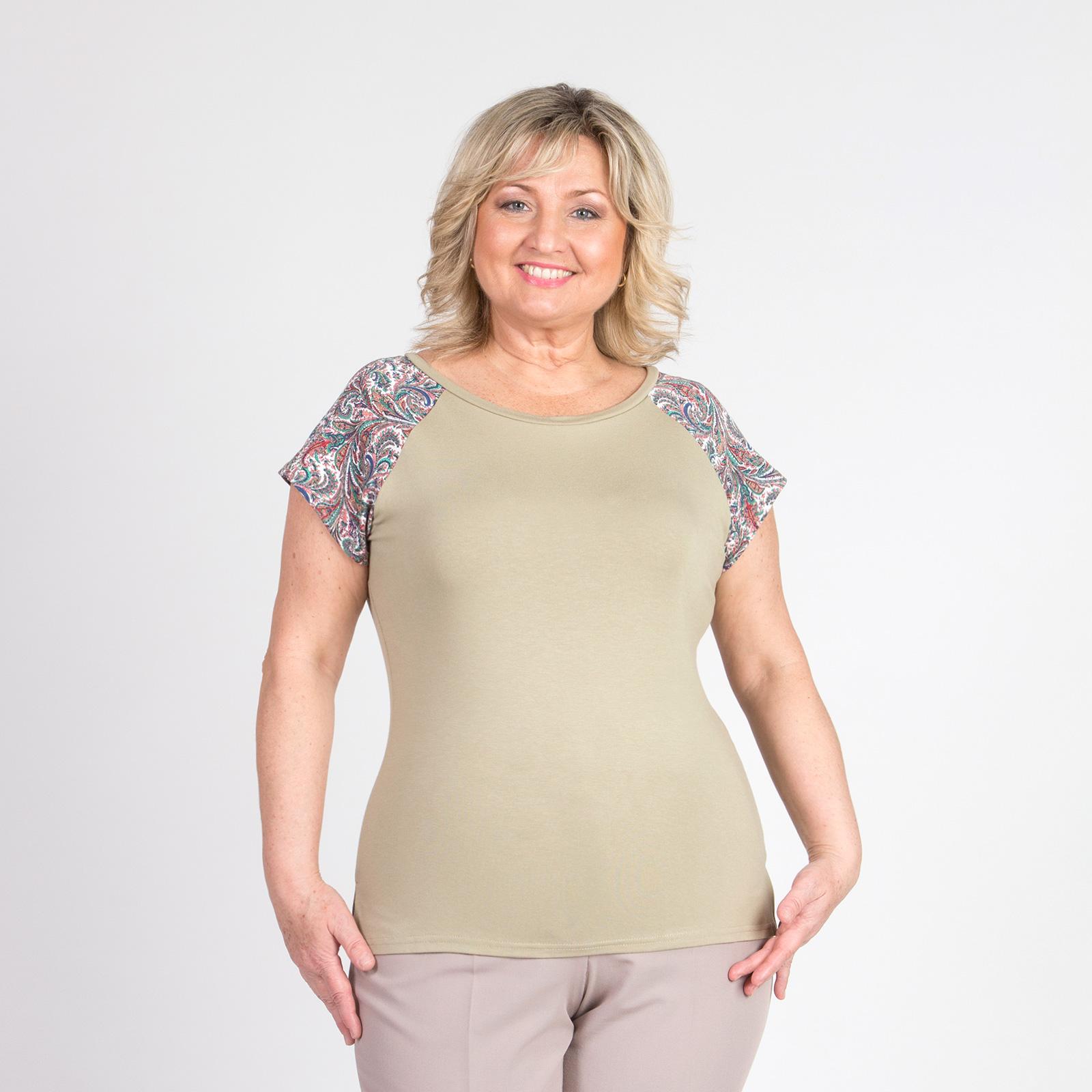 Блуза с восточным узором на рукавах