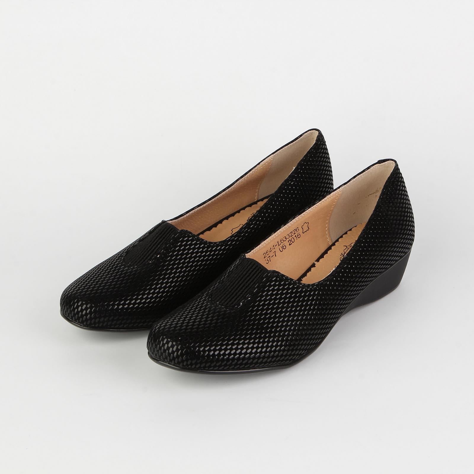 Туфли женские с декоративной перфорацией