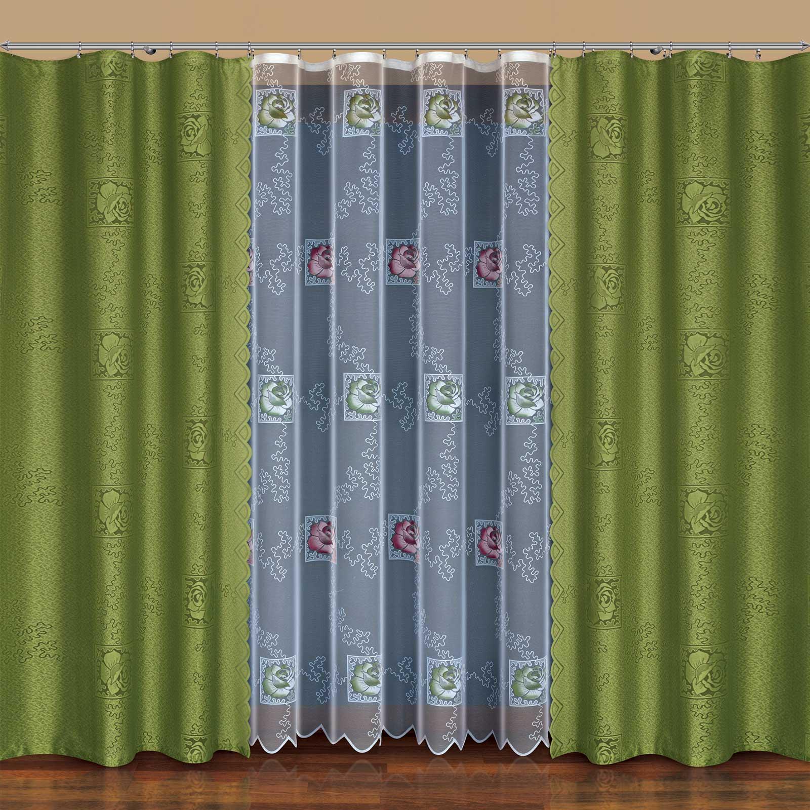 Комплект штор + тюль «Стильная роза»