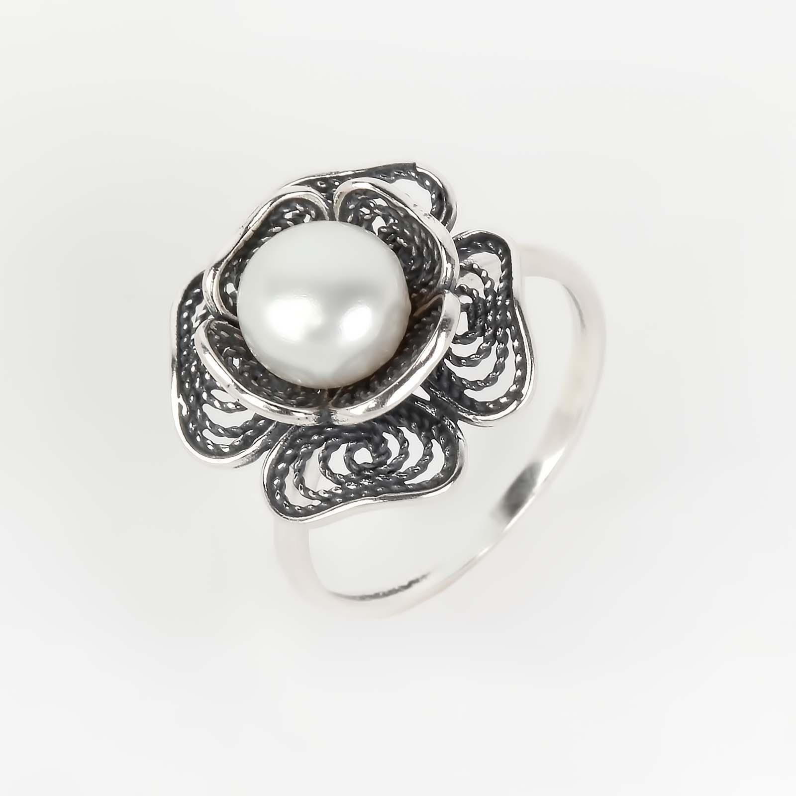Кольцо «Жемчужная роза»
