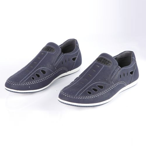Туфли мужские на утолщенной подошве с эластичными вставками