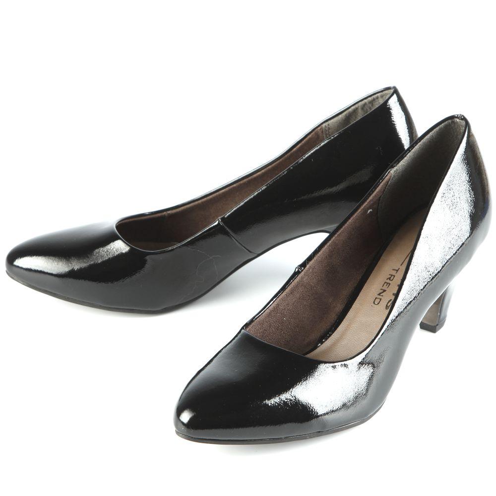 Туфли женские лакированные на элегантном каблуке