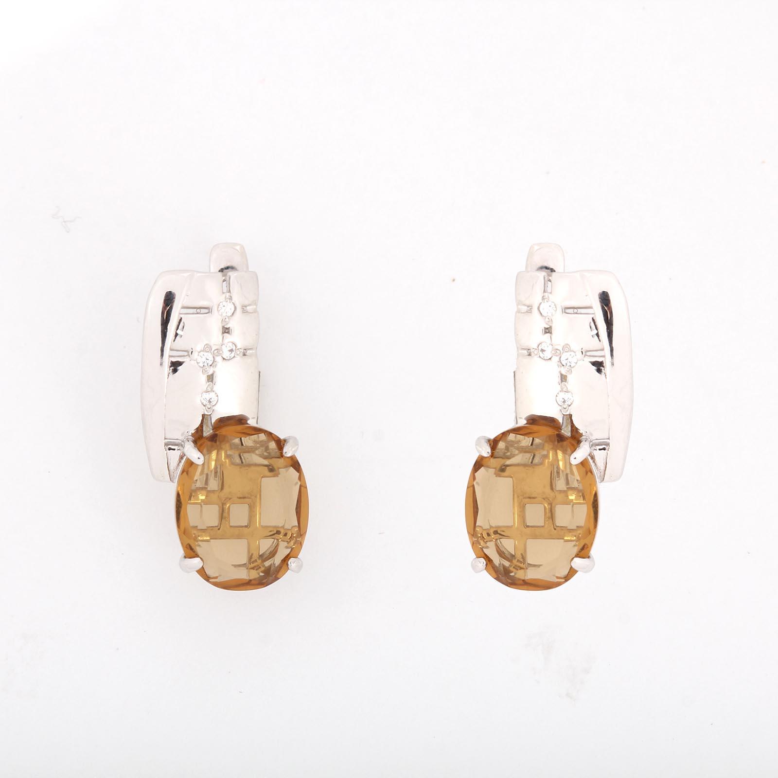 Серебряные серьги «Медовый панцирь»